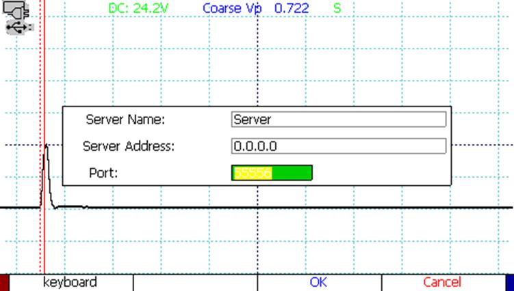 CT Viewer TDR waveform software add server