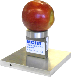 MDT external scale / calibrator.  Use the scale to weigh fruit or place it under the test head and let the MDT-2 use the Weigh Station to calibrate itself.